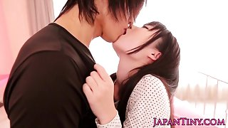 Tiny japanese babe lifted and pussylicked