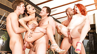 Nikita Bellucci, Amarna Miller, Yanick Shaft in Rocco's Perfect Slaves #06, Scene #03
