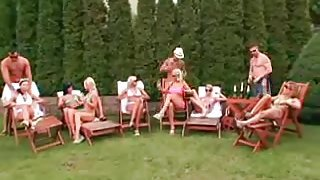 Crazy orgy party outdoor